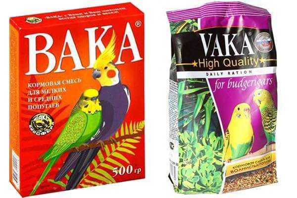 Корма для волнистых попугаев, для средних и крупных птиц